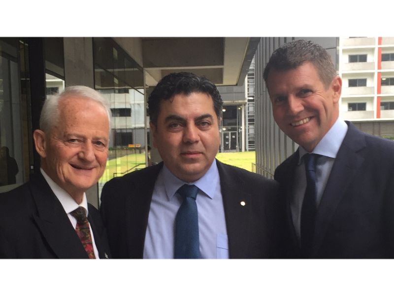 At the UNSW opening ceremony (left to right): The Hon. Philip M. Ruddock, Adj. Prof. George Melhem and Premier of New South Wales Mike Baird.